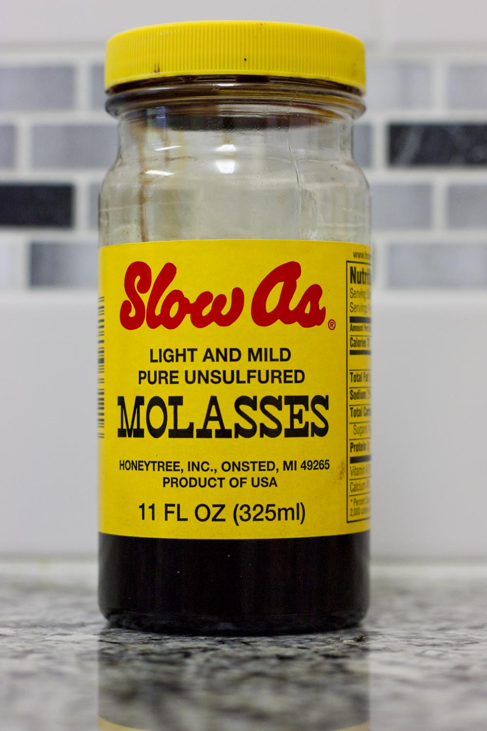 Molasses is the least refined common sweetener made from sugar cane, still retains some nutrients and is much less sweet tasting than sugar crystals.