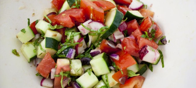 Raw Garden Vegetable Salad Recipe
