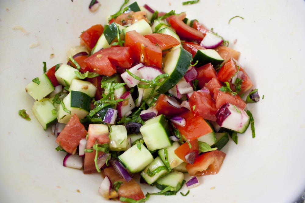 raw vegetable salad
