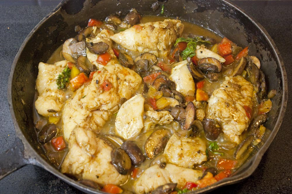 Coconut curry grouper cheeks
