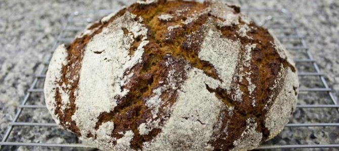 Oat Barley Sourdough Bread