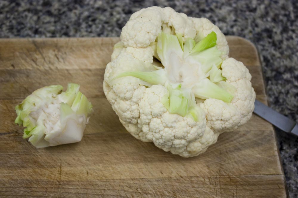 a whole head of cauliflower