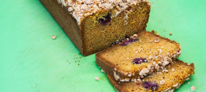 Carrot Blackberry Streusel Bread Recipe
